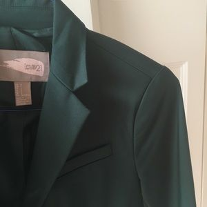Emerald Green Blazer from Forever 21!